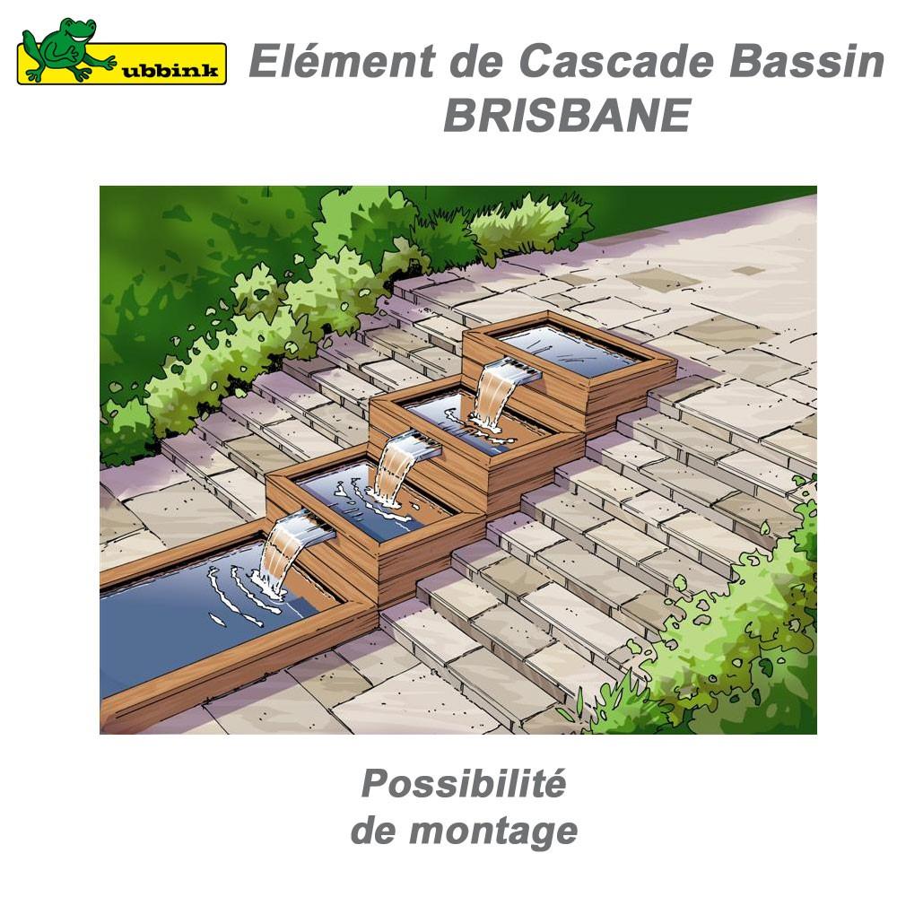 Cascade de bassin de jardin extérieur Brisbane 60