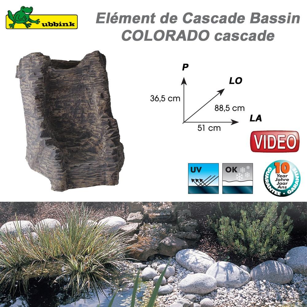 Cascade cours d 39 eau en r sine pour bassin de jardin - Cascade pour bassin d ornement besancon ...