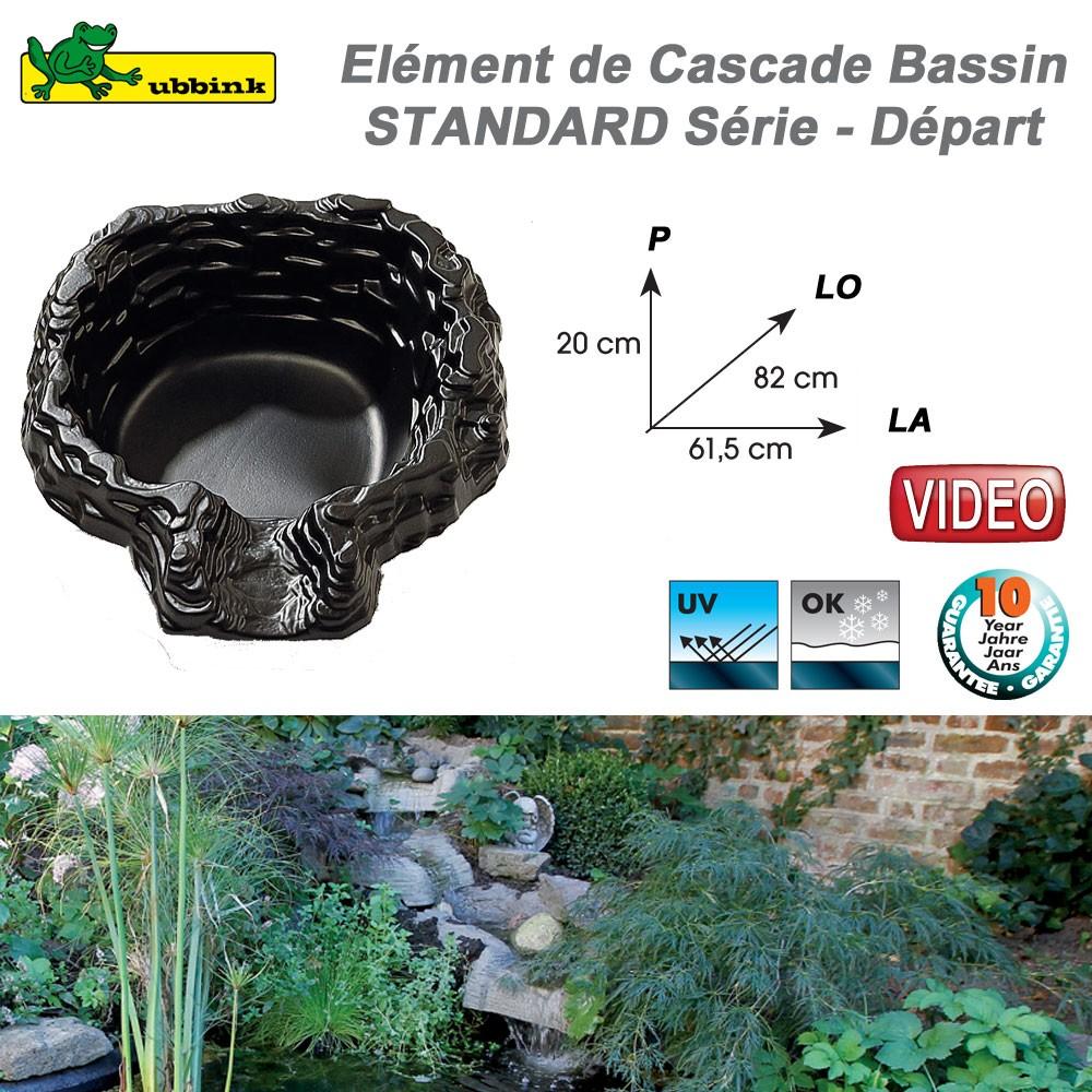 Cascade cours d 39 eau en r sine pour bassin de jardin standard - Bassin de jardin avec cascade ...