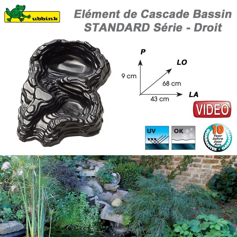 Cascade cours d\'eau en résine pour bassin de jardin Standard