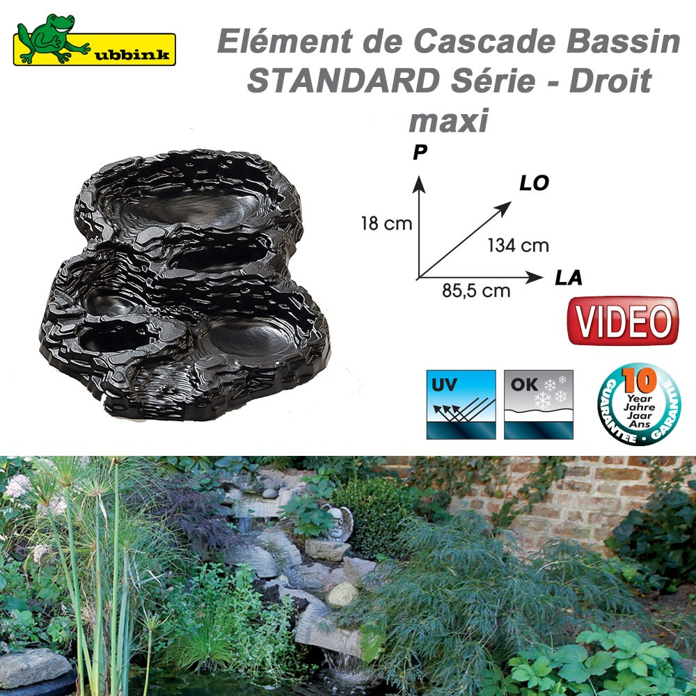 cascade cours d 39 eau en r sine pour bassin de jardin standard 106781. Black Bedroom Furniture Sets. Home Design Ideas
