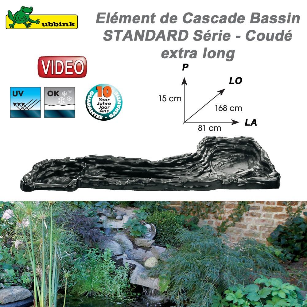 cascade cours d 39 eau en r sine pour bassin de jardin standard 131202. Black Bedroom Furniture Sets. Home Design Ideas