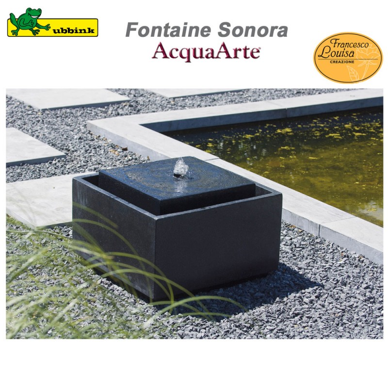 fontaine de jardin acquaarte sonora terrazzo ubbink 1387033 ubbink. Black Bedroom Furniture Sets. Home Design Ideas