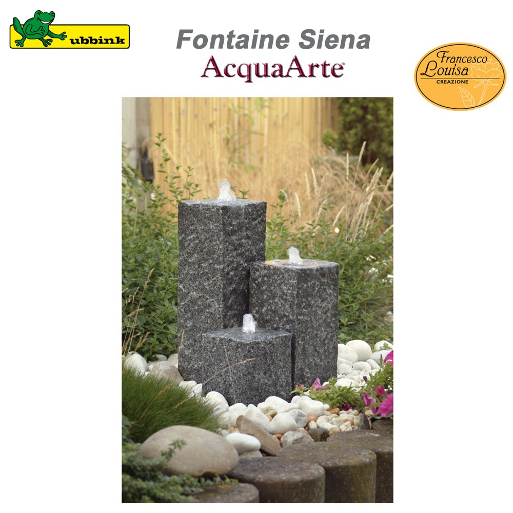 fontaine de jardin ext rieur siena granit 1308241 ubbink 8. Black Bedroom Furniture Sets. Home Design Ideas