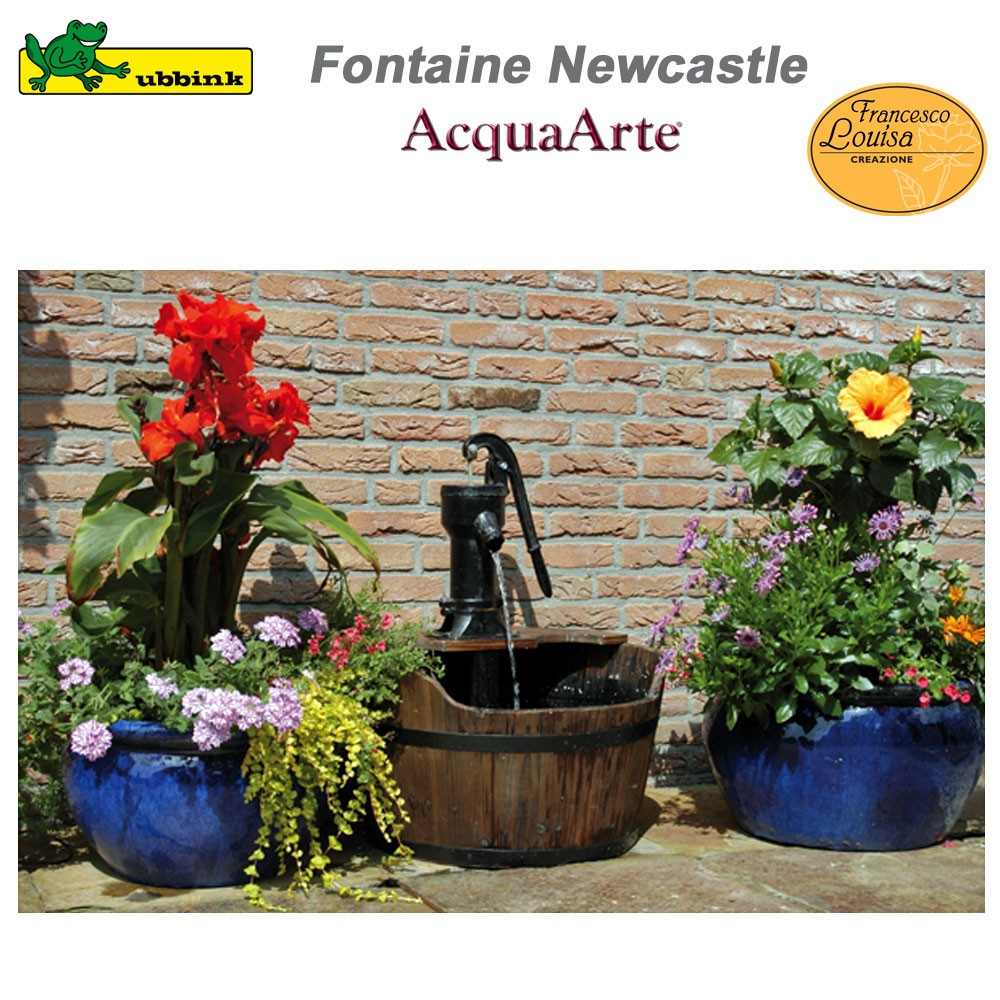 Fontaine de jardin ext rieur en bois newcastle 1387020 ubbink 8 for Fontaine de jardin zinc