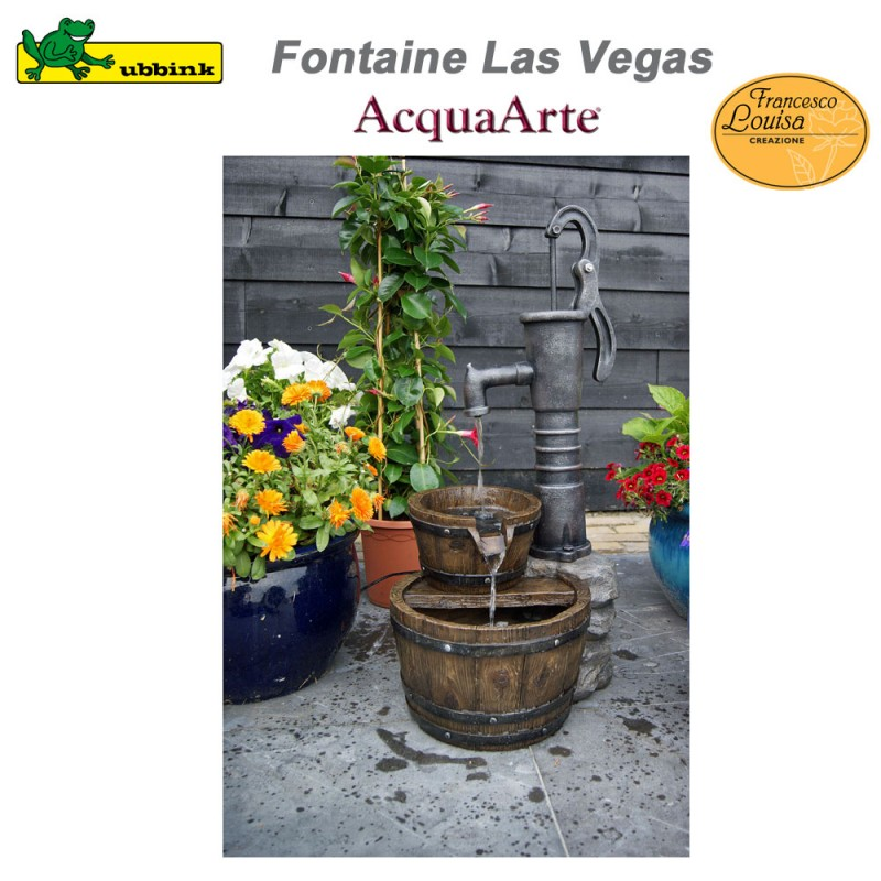 fontaine de jardin ext rieur en polyr sine acquaarte las vegas 1387. Black Bedroom Furniture Sets. Home Design Ideas