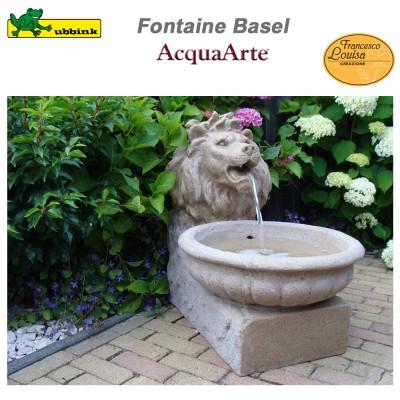Fontaine de jardin extérieur polyrésine aspect grès Basel
