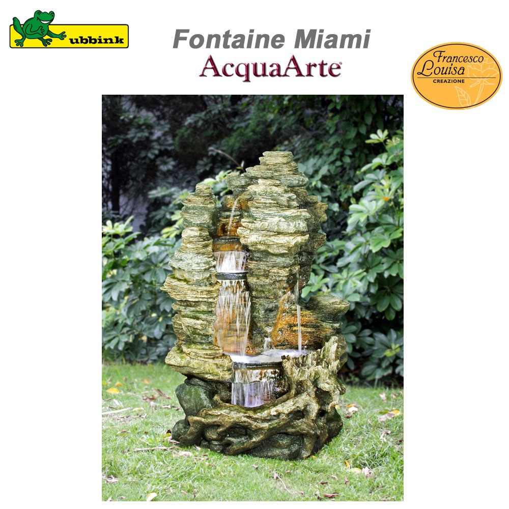 grande fontaine de jardin ext rieur polyr sine miami 1387073 ubbink 8. Black Bedroom Furniture Sets. Home Design Ideas
