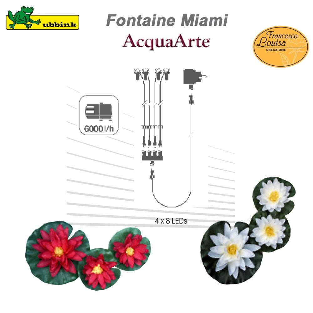 Grande fontaine de jardin extérieur polyrésine Miami
