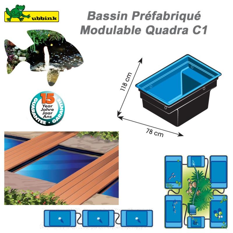 Bassin préfabriqué de jardin Quadra C1 1311001 Ubbink-8