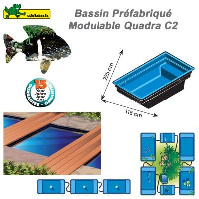 Bassin  préformé de jardin Ubbink Quadra C2