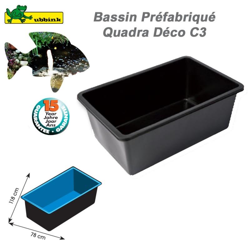 Bassin préformé de jardin Quadra Déco C3 1311004 Ubbink-8