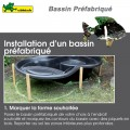 Bassin prefabriqué de jardin Ubbink Calmus SI