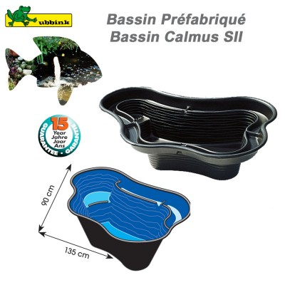 Bassin préfabriqué de jardin Calmus SII