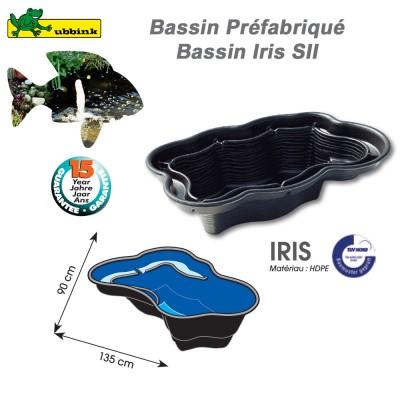 Bassin prefabriqué de jardin Iris SII