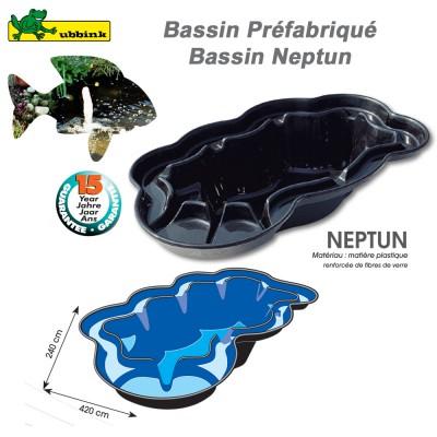 Bassin prefabriqué de jardin Neptune V