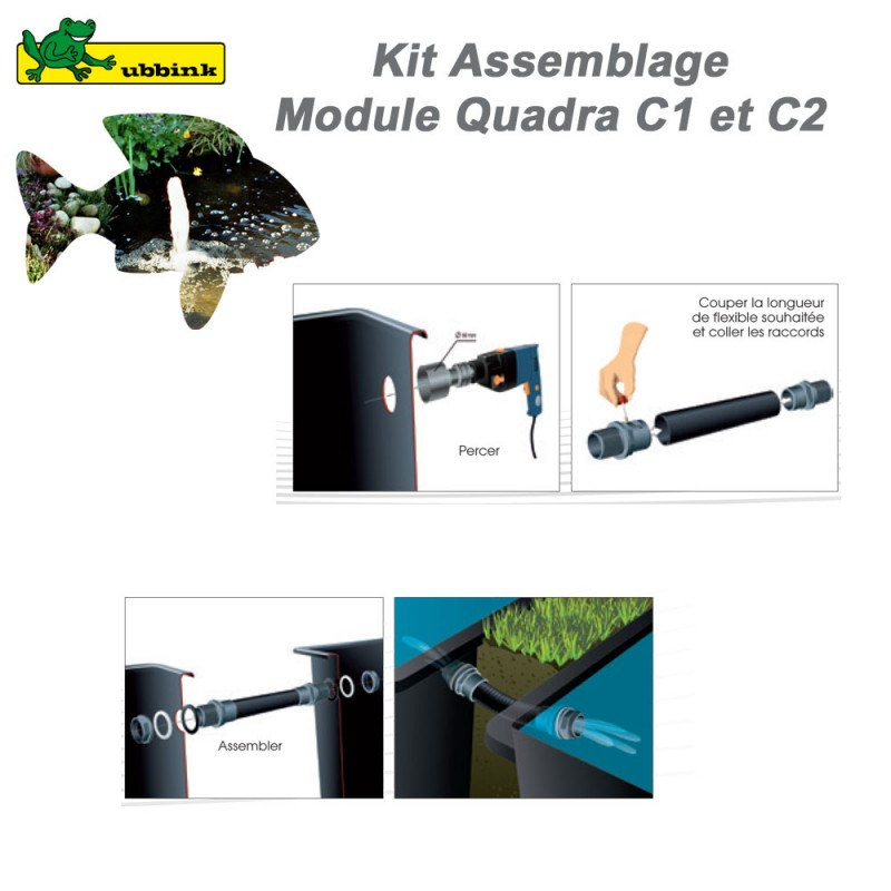 Kit de raccordement pour bassin de jardin Quadra Ubbink - Clic ...