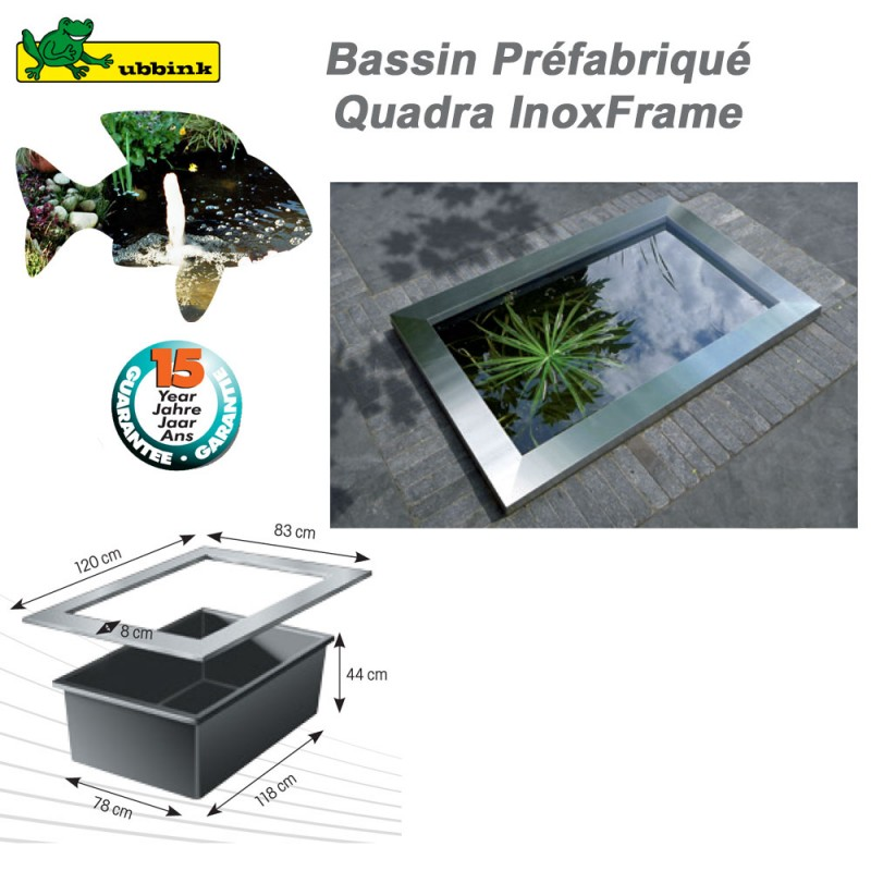 Quadra Inox Frame pour bassin de jardin Quadra Ubbink - Clic ...