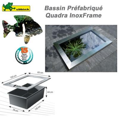 Quadra Inox Frame pour bassin de jardin préformé Quadra