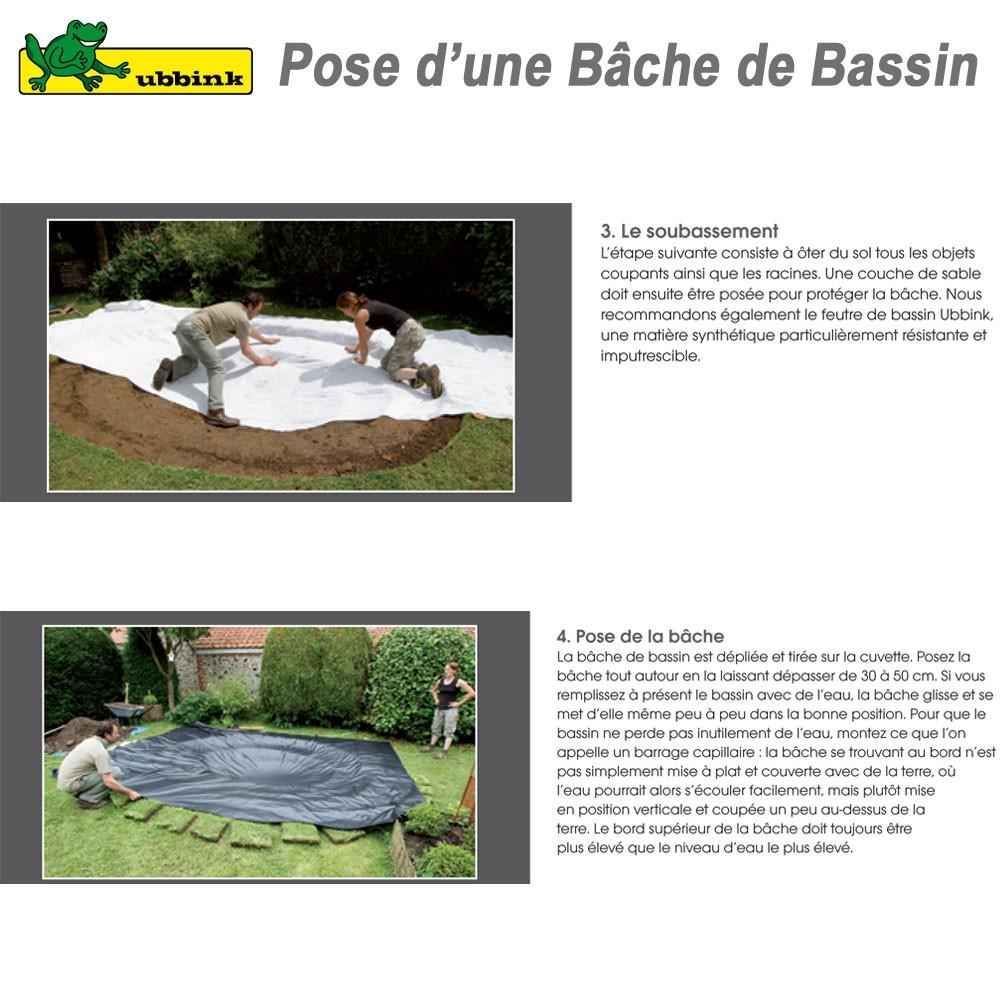 B che pour bassin de jardin pvc aqualiner 4x4 1331167 ubbink 8 for Bache pour creer un bassin