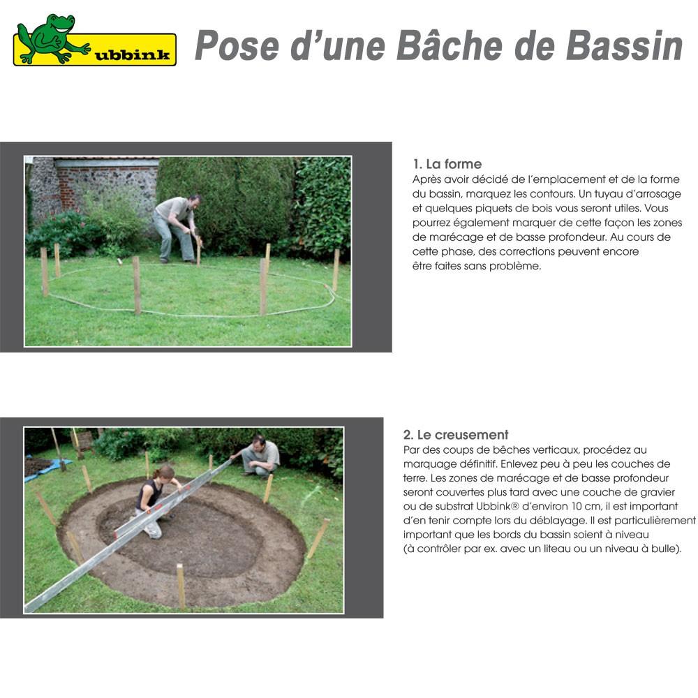 B che pour bassin de jardin pvc aqualiner 4x5 1331950 ubbink 8 for Bache pour le jardin