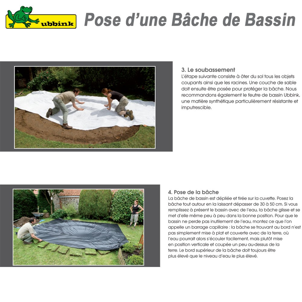 b che pour bassin de jardin pvc aqualiner 6x4 1331169 ubbink 8. Black Bedroom Furniture Sets. Home Design Ideas