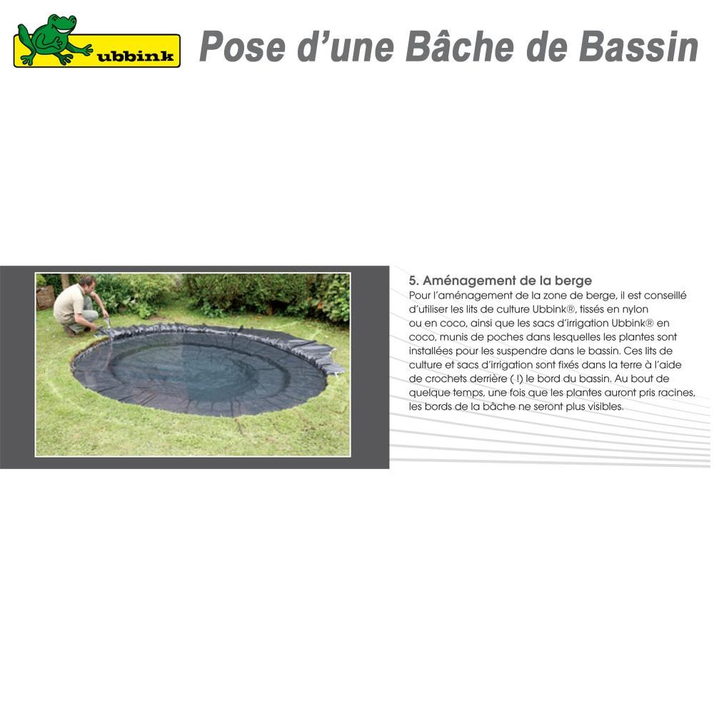 B che pour bassin de jardin pvc aqualiner 6x5 1331170 ubbink 8 for Bache pour bassin de jardin