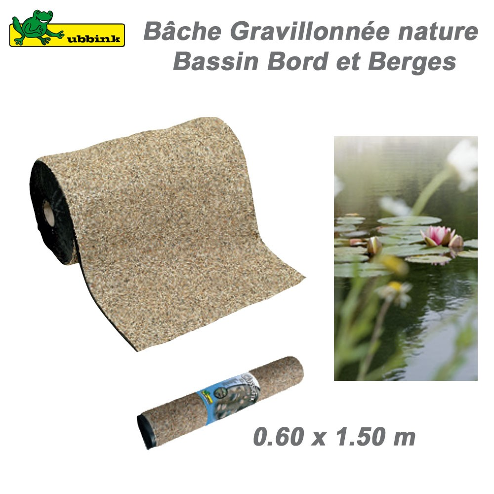 B che gravillonn e nature bord de berge de bassin de for Bache pour bassin largeur 3m