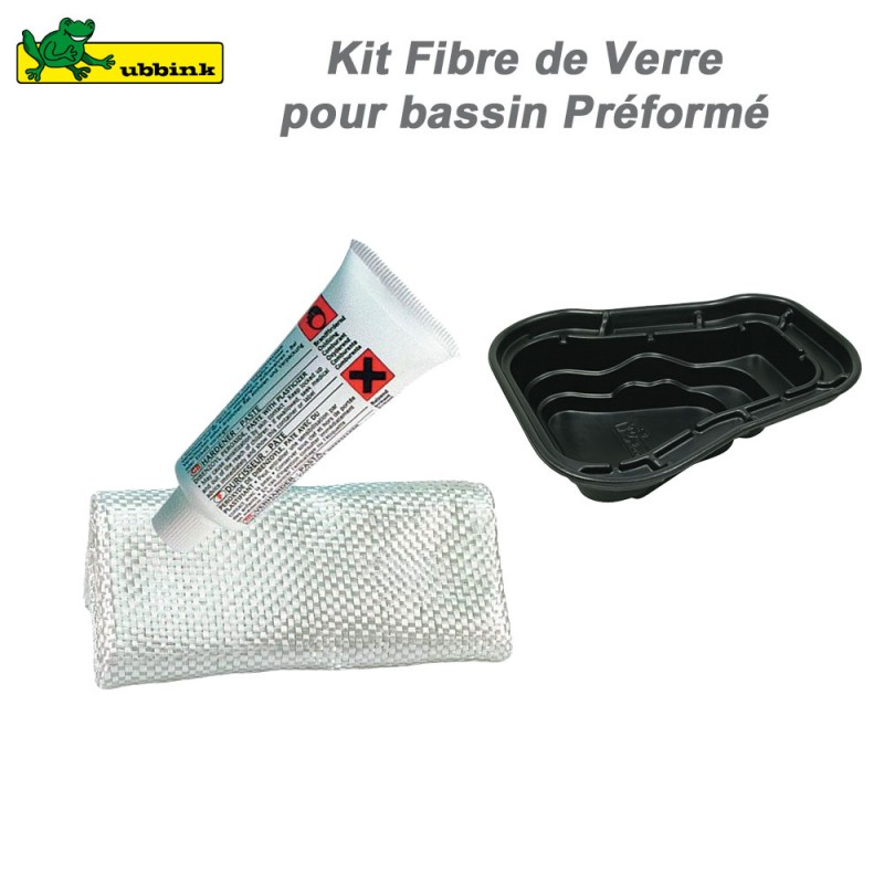 Kit fibre de verre pour r paration bassins pr form s ou for Reparation bache bassin