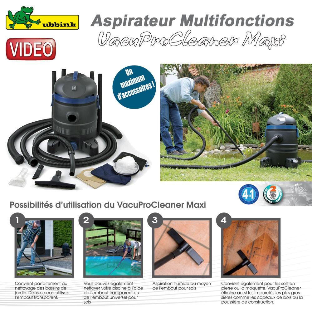 aspirateur multifonction vacuprocleaner maxi ubbink clic. Black Bedroom Furniture Sets. Home Design Ideas
