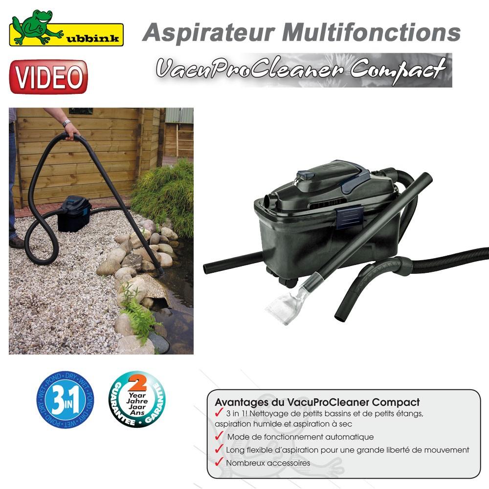 Aspirateur multifonction vacuprocleaner compact ubbink for Aspirateur pour bassin