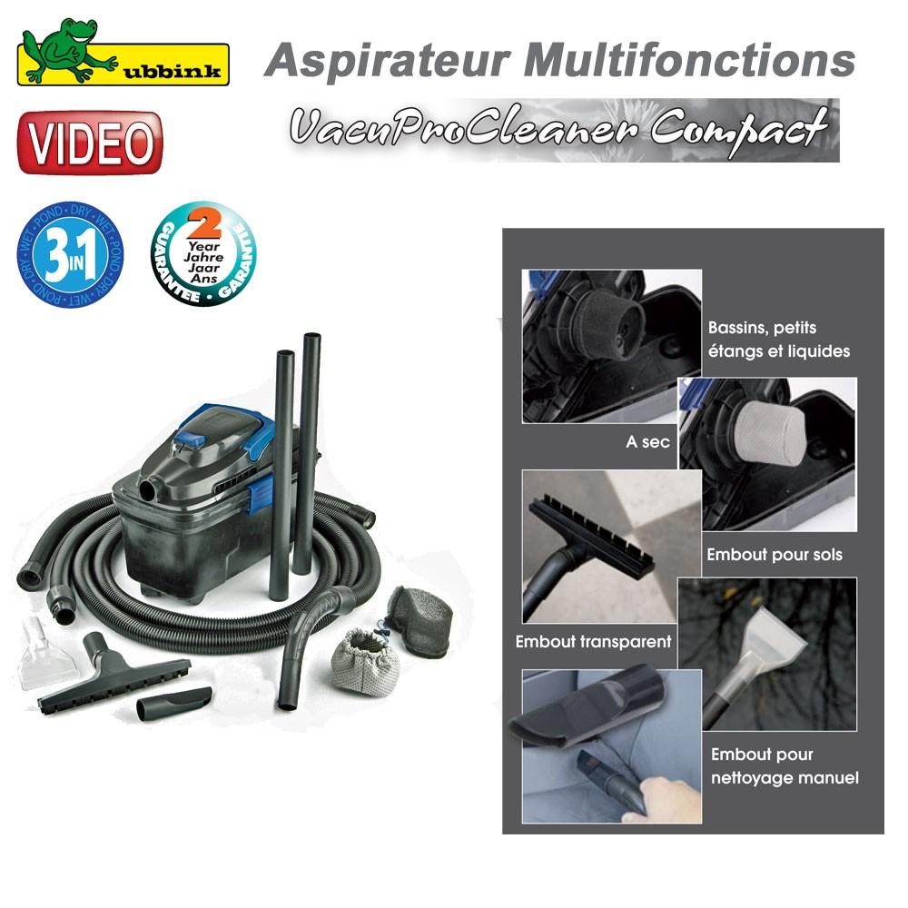 Aspirateur multifonction vacuprocleaner compact ubbink for Aspirateur bassin