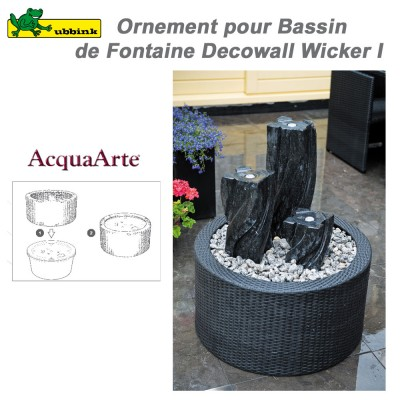 DecoWall Wicker I pour bassin de fontaine Victoria 60