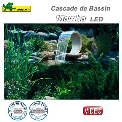 Cascade pour bassin Mamba LED inox 316