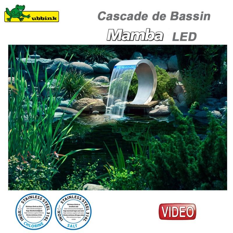 Cascade pour bassin ext rieur mamba led inox 316 7504459 ubbink 8 - Cascade bassin exterieur ...