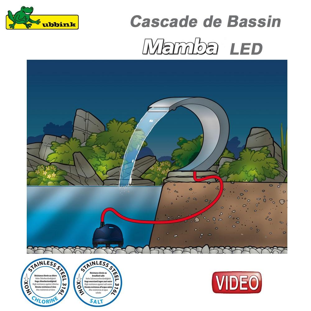 Cascade pour bassin ext rieur mamba led inox 316 7504459 ubbink 1 - Cascade artificielle exterieur ...