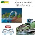 Cascade pour bassin extérieur Mamba S LED inox 316