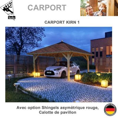 Carport pavillon bois 1 voiture Kirn 1