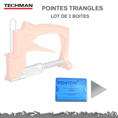 Lot de 2 Boites - Pointes Triangles