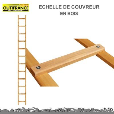 Echelle de couvreur en bois 3.90 m - 39 cm