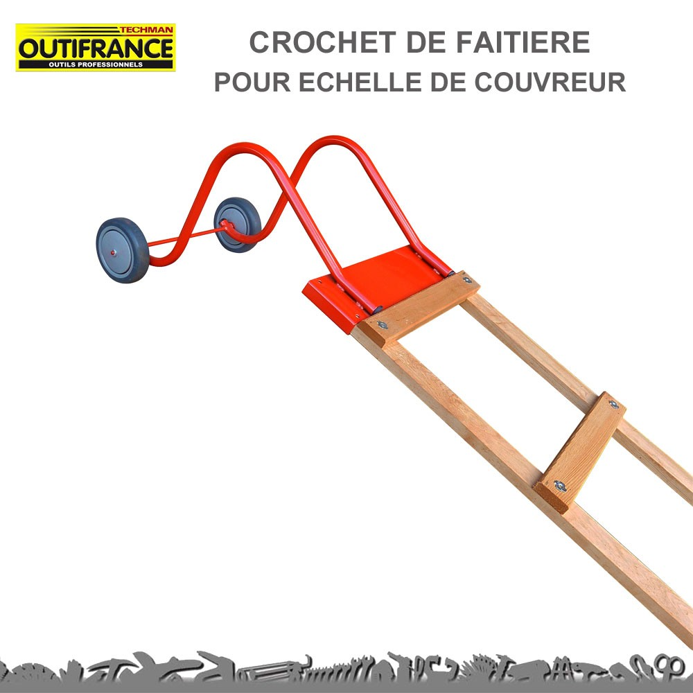 Crochet de faiti re pour chelle de couvreur 8833400 out - Crochet echelle de toit ...