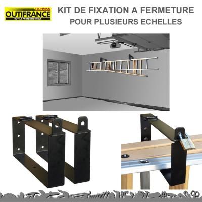 Kit de fixation à fermeture pour plusieurs échelles