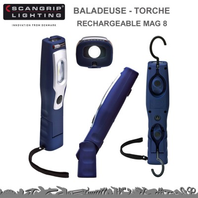 Baladeuse Torche rechargeable MAG 3