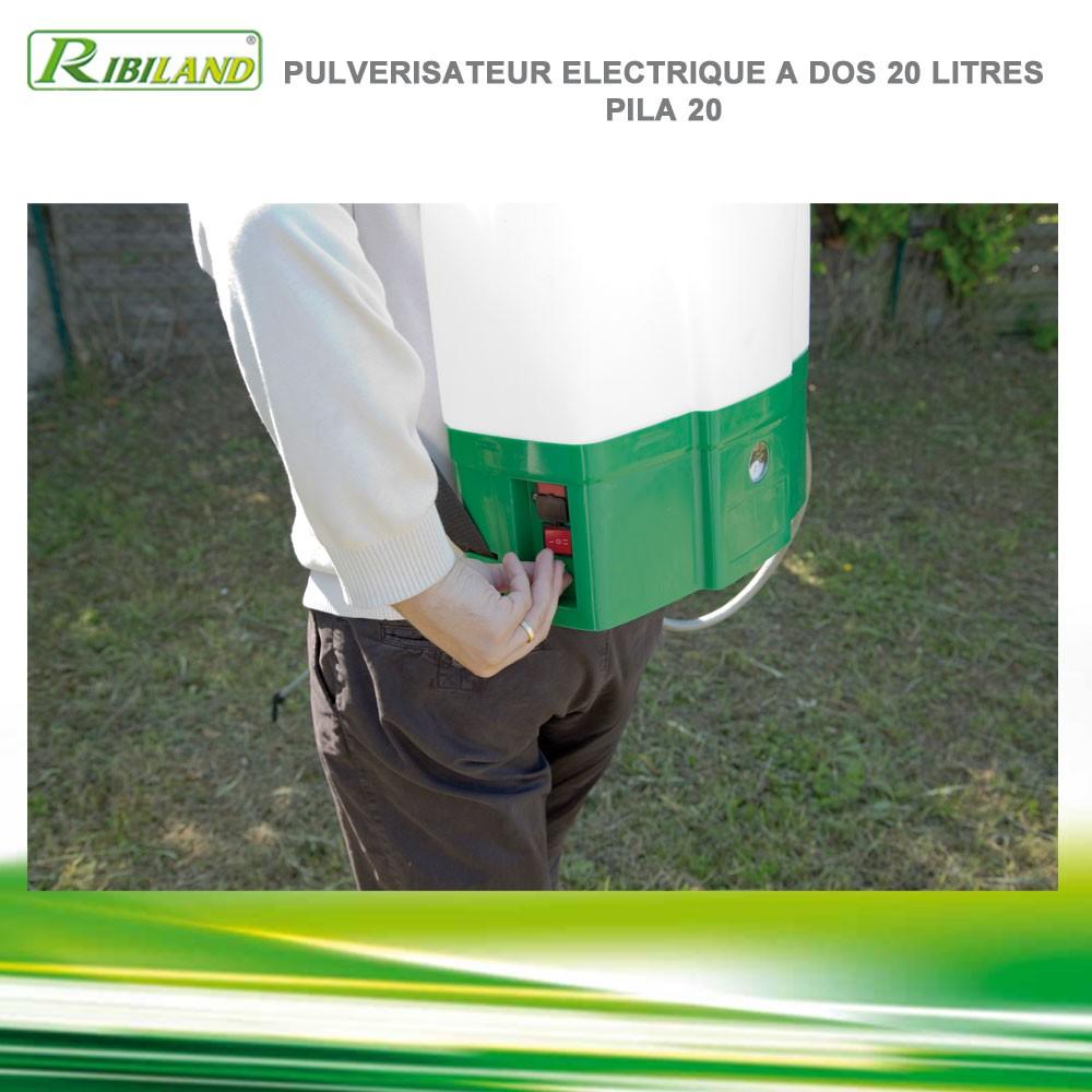 Pulv risateur lectrique dos pila 20 prp200de ribiland - Pulverisateur de jardin electrique ...
