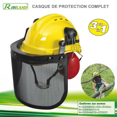 Casque de protection chantier 3 en 1