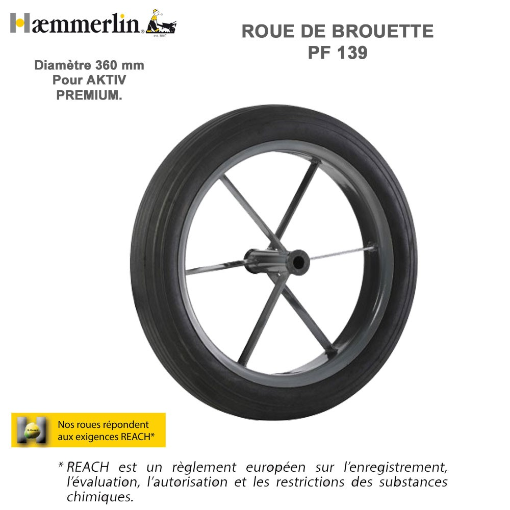 roue de brouette pf 139 haemmerlin 309013901 haemmerlin vente de. Black Bedroom Furniture Sets. Home Design Ideas