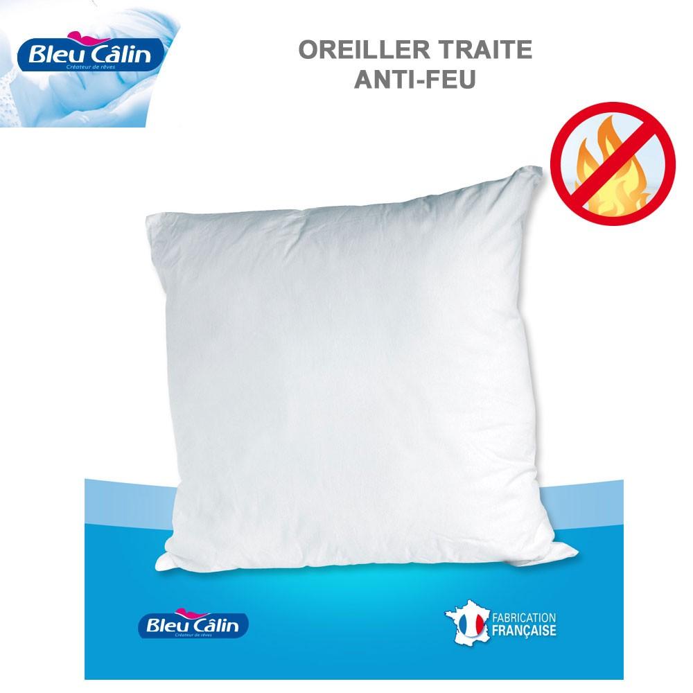 oreiller anti feu Oreiller et Polochon Anti Feu ORN C Bleu Calin C oreiller anti feu