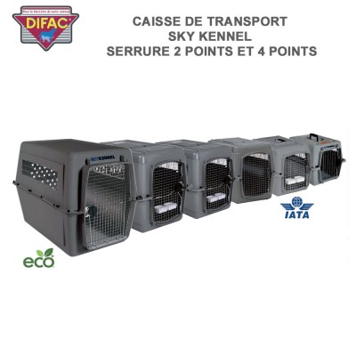 Caisse de transport animaux Sky Kennel - Serrure 4 point