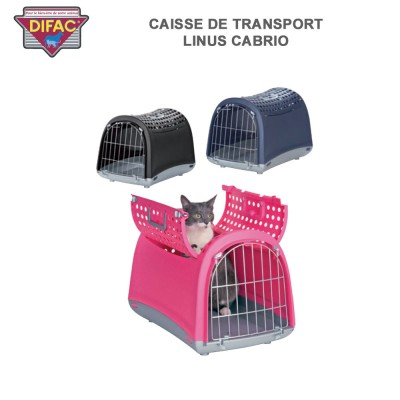 Caisse de transport animaux Linus Cabrio 50 x 32 x 35 cm