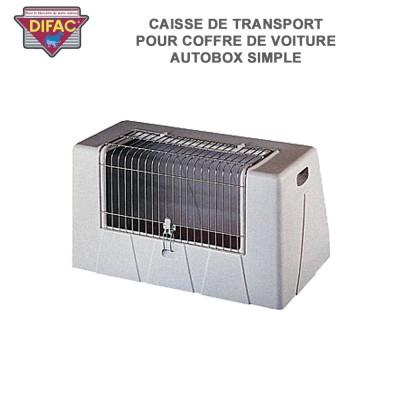 Caisse de transport animaux pour coffre de voiture Autobox simple